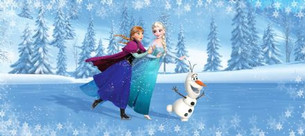 Disney Elsa & Anna Panoramic mural wallpaper 202x90cm